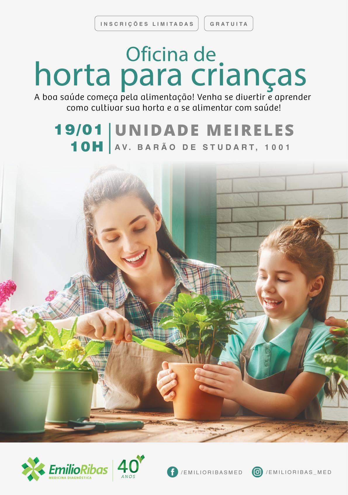 Oficina de Horta para Crianças