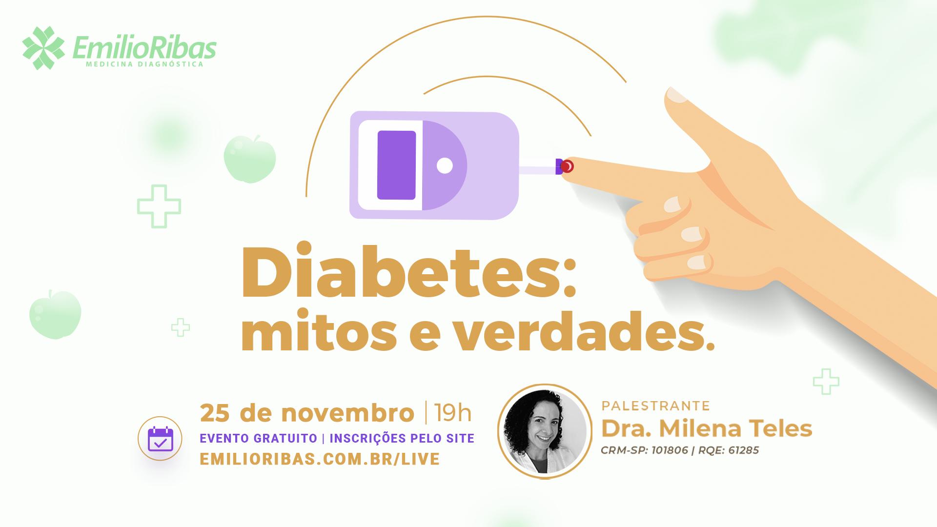 [LIVE] Diabetes: mitos e verdades