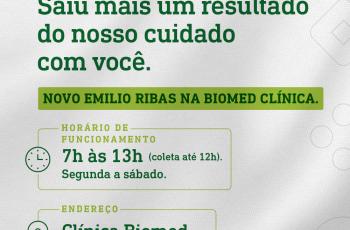 Emilio Ribas Medicina Diagnóstica inaugura unidade na clínica Biomed