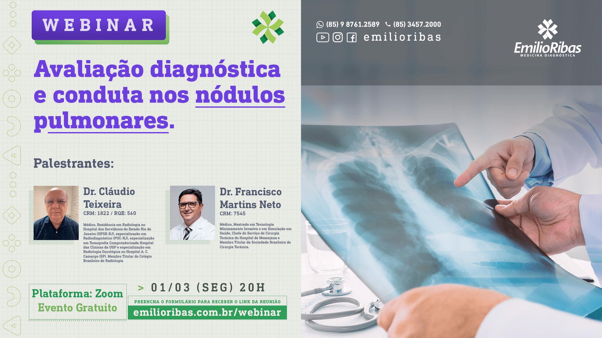 [WEBINAR] Avaliação diagnóstica e conduta nos nódulos pulmonares