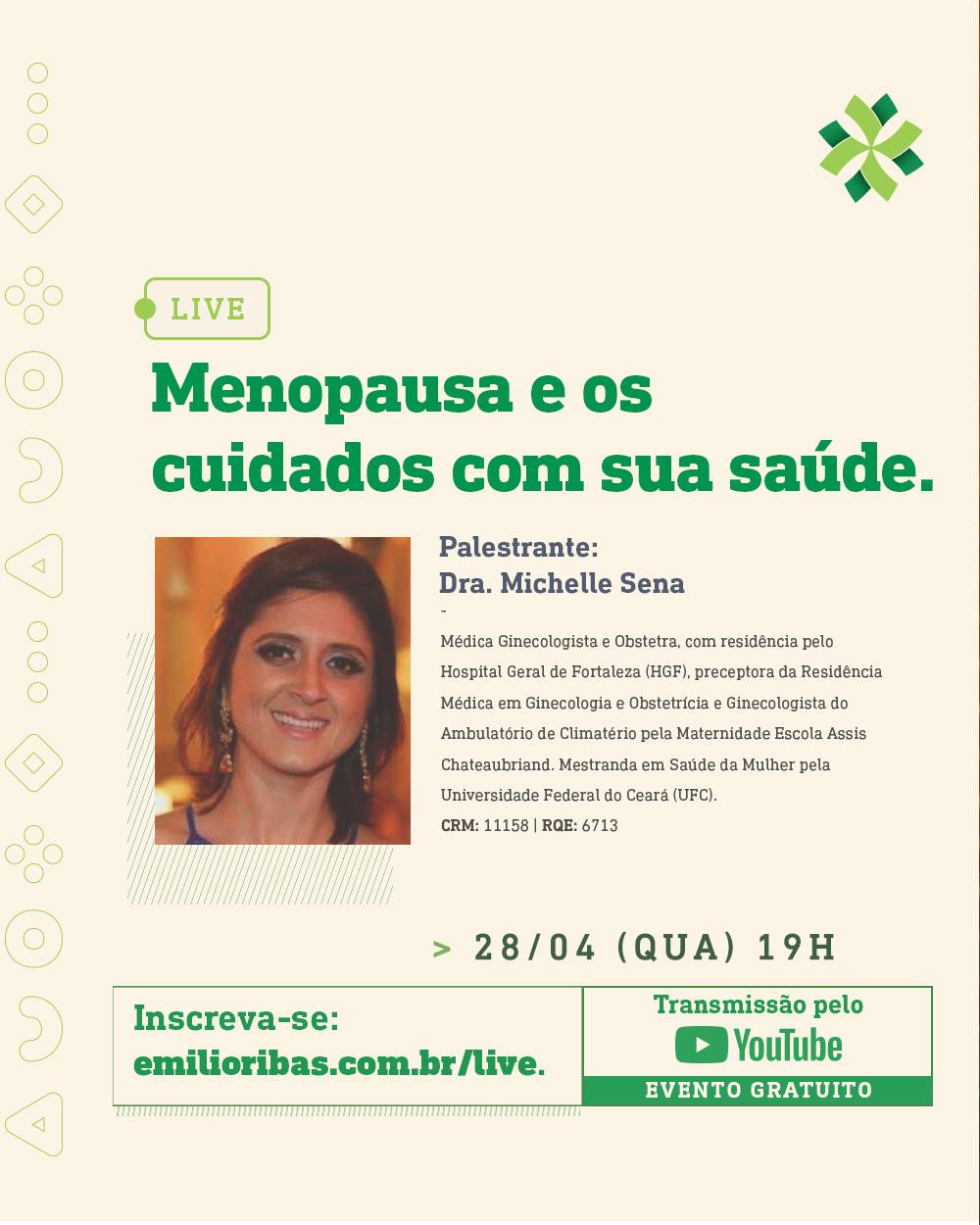 [LIVE] Menopausa e os cuidados com sua saúde