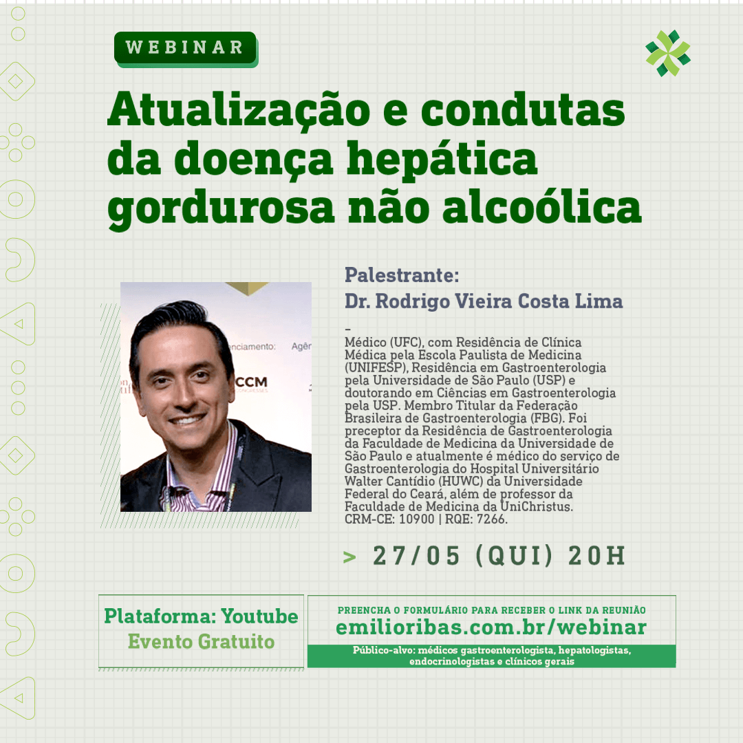 [WEBINAR] Atualização e condutas da doença hepática gordurosa não alcoólica