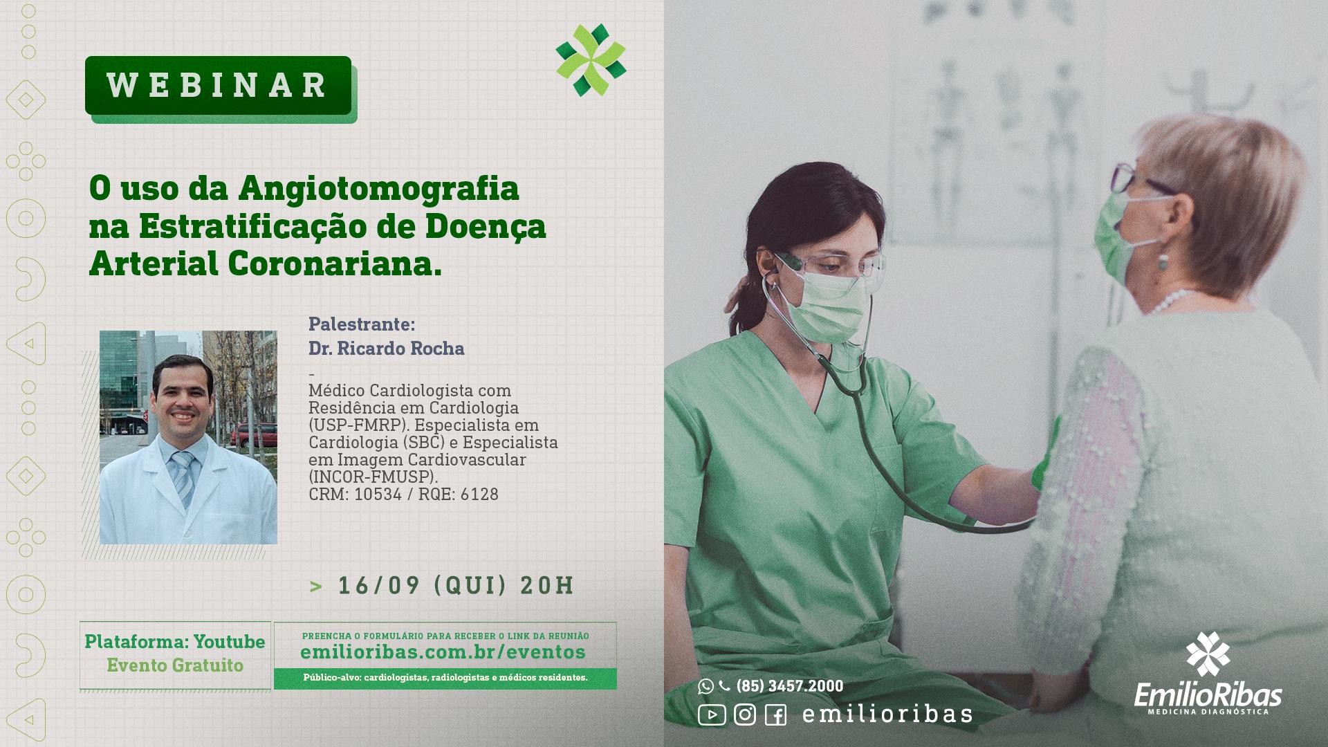 [WEBINAR] O uso da angiotomografia na estratificação de Doença Arterial Coronariana
