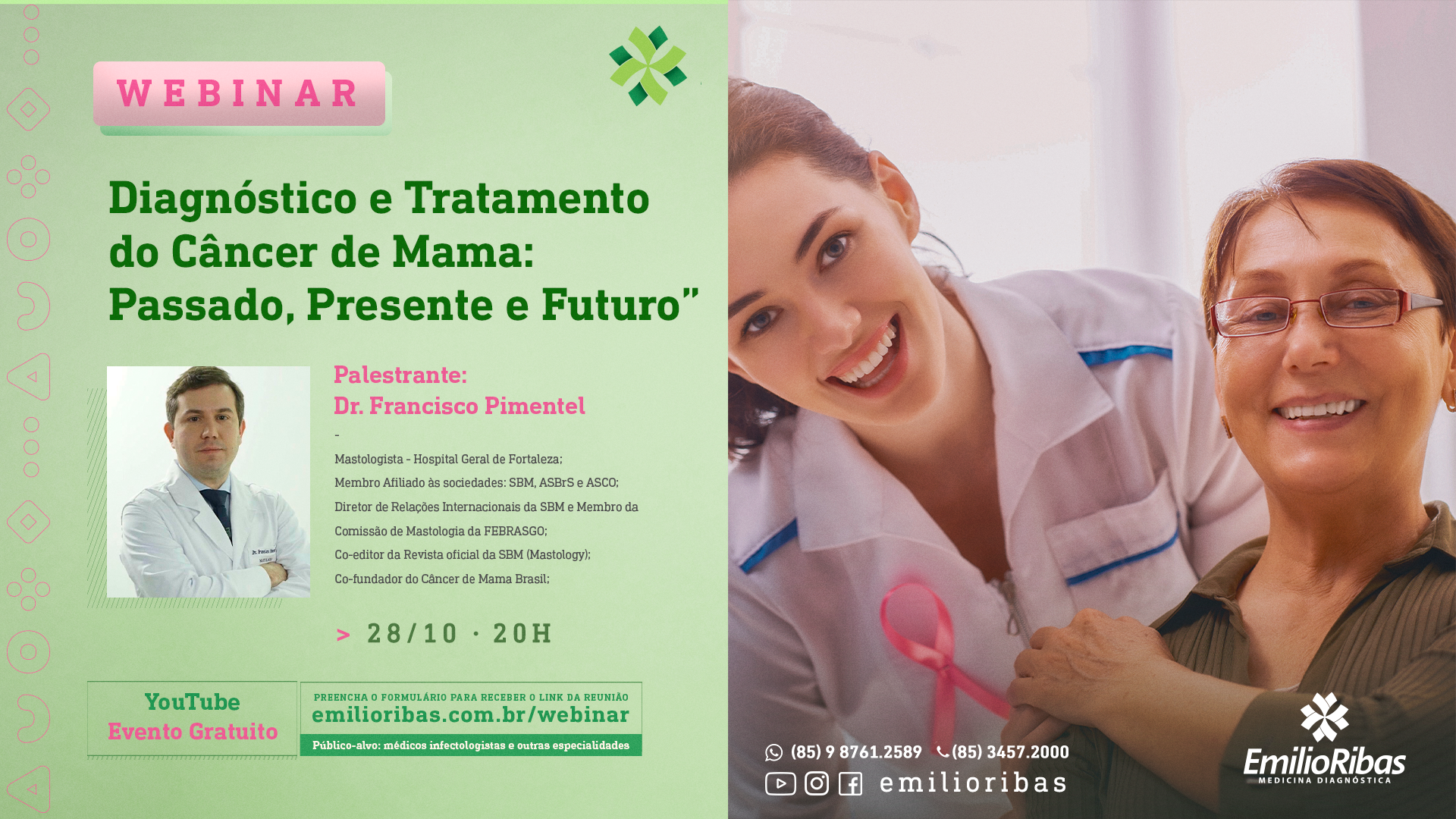 [WEBINAR] Diagnóstico e Tratamento do Câncer de Mama: Passado, Presente e Futuro
